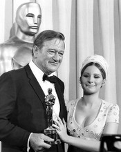 This is an image of 192417 John Wayne and Barbra Streisand Photograph & Poster