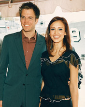 This is an image of 247987 Jessica Alba & Michael Weatherly Photograph & Poster
