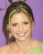 This is an image of 251116 Sarah Michelle Gellar Photograph & Poster