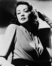 This is an image of 168506 Gene Tierney Photograph & Poster