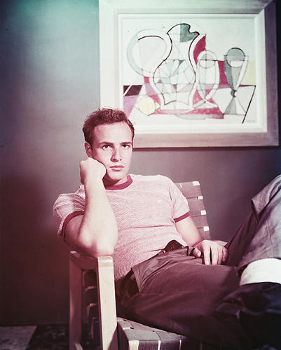 This is an image of 244350 Marlon Brando Photograph & Poster