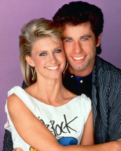This is an image of 264083 Olivia Newton-John & John Travolta Photograph & Poster