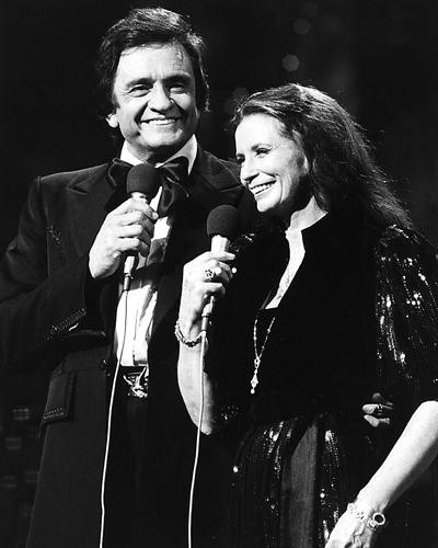This is an image of 186477 Johnny Cash and June Photograph & Poster