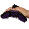 A flexible brush with a comfortable strap and the exact same pliable teeth from our popular massage brush used for training hair and washing livestock.