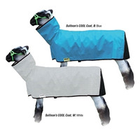 Cool, fresh and comfortable! The Cool Coat blankets are constructed of 100% mesh fabric to allow for air to ventilate through the blanket to the lambs body keeping them cool. This durable, tear resistant mesh material also acts as a shield from the sun's harmful UVA/UVB rays, preventing the risk of sunburn to your lamb's delicate hide. Binding on the outer edges provides extra strength. Inside pockets conceal and store loops, straps and snaps while in use, protecting the lambs hide and reducing the risk of irritation. Crafted with Sullivan quality materials and workmanship for long lasting durability. Designed with a mesh butt. Can be machine washed in cold water and line dried.
