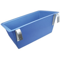 """Durable poly feeders equipped with brackets to hang on a fence. 23"""" wide x 14"""" tall x 8"""" deep."""