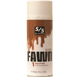 Fawn Touch-Up is the final touch-up for covering adhesives and leg builders on light red hair with an orange tint, found on light colored Hereford, Gelbvieh, Limousin and Red Angus cattle. Fawn Touch-Up provides excellent coverage, texture and color dimension to enhance your animal's natural hair color. Select single or case and specify quantity below. ALL AEROSOLS MUST BE SHIPPED GROUND.THEY CANNOT GO NEXT DAY, SECOND DAY, OR THIRD DAY AIR.  THEY CANNOT BE SHIPPED INTERNATIONALLY WITH THE U.S. POSTAL SERVICE.