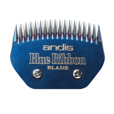 New! Andis Blue Ribbon Blocking Blade delivers improved hair feed and superior cutting results - even when used with adhesive products.