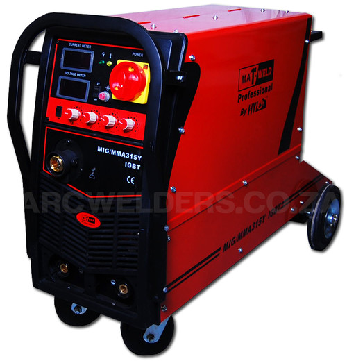 The Matweld MIG 315Y is a professional level multiprocess welder ideally suited for the professional shop or fabricator.