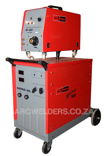 The Matweld 500 MIG is a fully Industrial Silicone rectifier type welder. Suitable for Heavy Duty applications, with a 110-540amp range with 30 setting Step Controlled Transformer Technology.