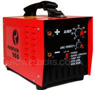 The Reeflex 160amp features 100% duty cycle at 160amps, the unit is built with the same high quality components and Siemens IGBT's as their top of the range machines. Features arc force adjustment and Lift TIG.