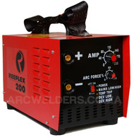 The Reeflex 200amp features 100% duty cycle at 200amps, the unit is built with high quality European components and Siemens IGBT's. Features arc force adjustment and Lift TIG. A very popular machine in the mining and industrial sector.