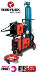 The Reeflex 500 amp multi-process welder is manufactured in South Africa, comes with a two year warranty. It is the mines industry standard welding machine and boasts a 100% DUTY CYCLE at 500 amps! This machine can be used for both maintenance and production applications. Adjustable ARC FORCE for CC, and adjustable INDUCTANCE for CV enables each process to be fined tuned to obtain optimum results. Built with Siemens IGBT's and European parts.