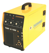 The Thermamax TSM 160i MIG Welder is ideal for DIY, maintenance and fabrication.  Features 2 wheel wire feed system, with stepless voltage control from 10-160amps. Can be used for gas and gasless (flux cored) wire, as well as Arc welding and scratch start TIG.