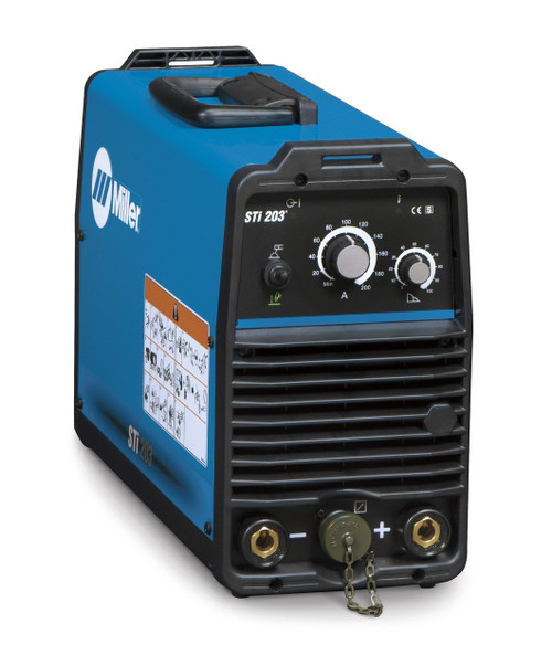 The Miller STI 203 is an inverter based, DC power source with a simple to use operator interface, providing only the necessary controls in a compact machine. Portable in the shop or at the job site, at 13kg the STI 203 easily moves from location to location.