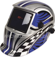 Matweld Auto Darkening Welding Helmet - Blue Race