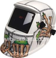 Matweld Auto Darkening Welding Helmet - White Bones