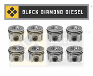Black Diamond 03-10 Ford 6.0 Powerstroke .040 Oversize Piston and Ring Set