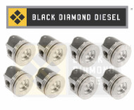 Black Diamond 03-10 Ford 6.0 Powerstroke .020 Oversize Piston Set