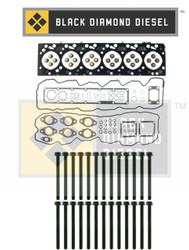 Black Diamond 03-04 Dodge 5.9 Cummins Head Gasket Set with Head Bolts Kit