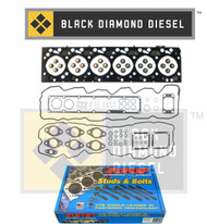 Black Diamond 07.5-15 Dodge 6.7 Cummins Head Gasket Set with ARP Head Studs Kit