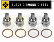 Black Diamond 03-10 Ford 6.0 Powerstroke High Pressure Oil Rail to Injector Tubes (4)