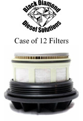 Black Diamond Prime Guard 99-03 Ford 7.3 Powerstroke Case of 12 Fuel Filters w/caps