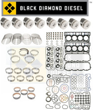 Black Diamond 06-10 Ford 6.0 Powerstroke 20MM Engine Rebuild Kit with Pistons
