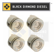 Black Diamond 01-04 Duramax 6.6 LB7 Standard Left Side Pistons with Rings (4)