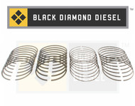 Black Diamond 01-04 Duramax 6.6 LB7 Standard Piston Ring Set (8)