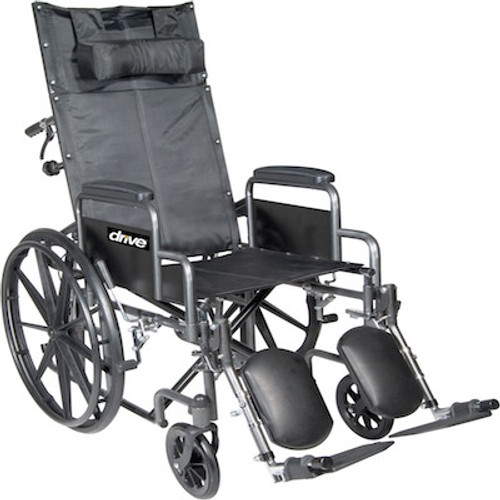 Drive Medical Silver Sport Full Reclinig Wheelchair