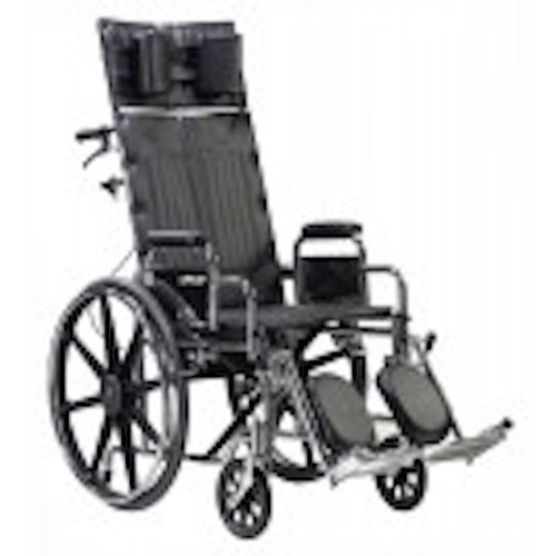 Drive Medical Deluxe Sentra Full Reclining Wheelchair - Dual Axle