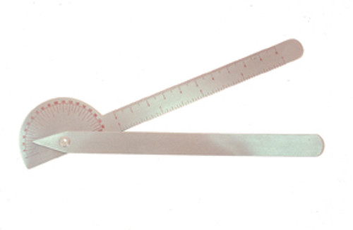 Baseline SS 180 degree Robinson goniometer, 6 inches