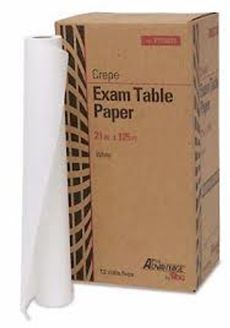 "Pro Advantage Exam Table Paper - 21"" x 225ft - White - Smooth 12/Case"