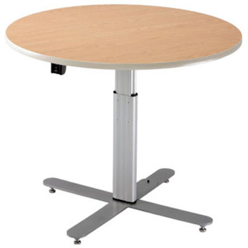 Adjustable Large Round Table - Powered