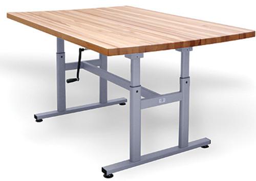 Hausmann Deluxe Crank Butcher Block Table