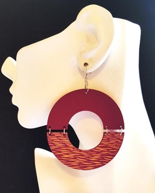 Wood Earrings-12866