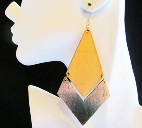 Wood Earrings-11905