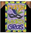 Mardi Gras Decorative Flags