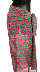 Mannequin with pareo swimwear cover-up -- Kaleidoscope print.