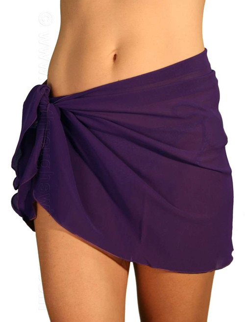 Purple tan through swimsuit sarong.