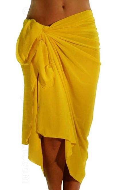 Solid yellow tan through pareo.