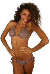 Tan through pink Toucan string bikini top.
