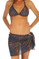 Safari short swimwear wrap in multicolor option.