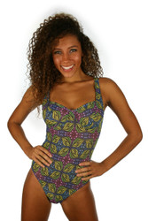 Tan through CD underwire swimsuit for women from Lifestyles Direct -- green Heat.