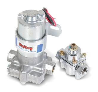 "Holley 110 GPH ""Blue"" Electric Fuel Pump With Regulator (HOL-12-802-1)"