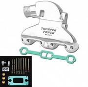 IMCO Thumper Power Small Block Manifold & Riser Kit Polished (02-8308)
