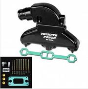 IMCO Thumper Power Small Block Manifold & Riser Kit Black (02-8302)