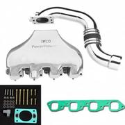 "IMCO PowerFlow Big Block Polished Manifold and ""S"" Riser Kit (02-8338)"