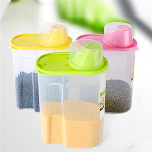BPA-Free Plastic Food Saver, Kitchen Food Cereal Storage Containers with Graduated Cap